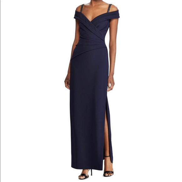 Ralph Lauren Dresses & Skirts - Ralph Lauren, beaded cold-shoulder Formal Gown